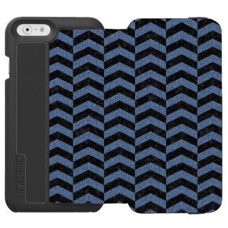 CHEVRON2 BLACK MARBLE & BLUE DENIM INCIPIO WATSON™ iPhone 6 WALLET CASE