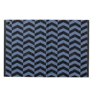 CHEVRON2 BLACK MARBLE & BLUE DENIM iPad AIR COVER
