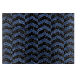 CHEVRON2 BLACK MARBLE & BLUE STONE CUTTING BOARD