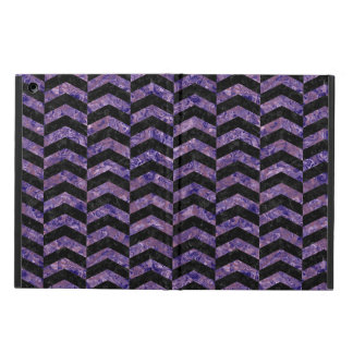 CHEVRON2 BLACK MARBLE & PURPLE MARBLE COVER FOR iPad AIR