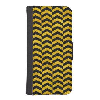 CHEVRON2 BLACK MARBLE & YELLOW MARBLE iPhone SE/5/5s WALLET CASE