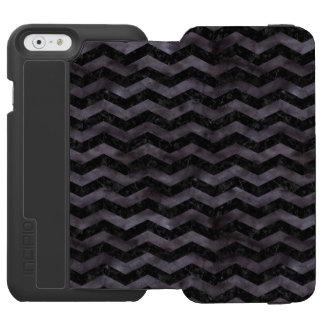 CHEVRON3 BLACK MARBLE & BLACK WATERCOLOR INCIPIO WATSON™ iPhone 6 WALLET CASE