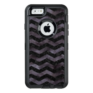 CHEVRON3 BLACK MARBLE & BLACK WATERCOLOR OtterBox DEFENDER iPhone CASE