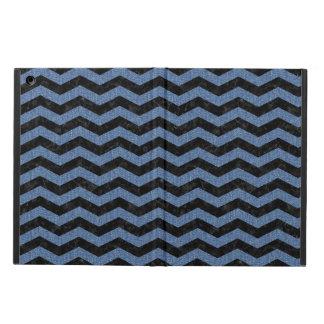 CHEVRON3 BLACK MARBLE & BLUE DENIM COVER FOR iPad AIR