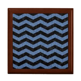 CHEVRON3 BLACK MARBLE & BLUE DENIM GIFT BOX