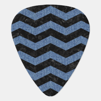 CHEVRON3 BLACK MARBLE & BLUE DENIM GUITAR PICK