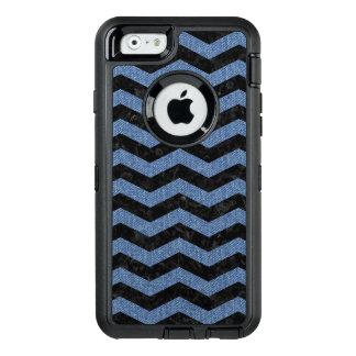 CHEVRON3 BLACK MARBLE & BLUE DENIM OtterBox DEFENDER iPhone CASE
