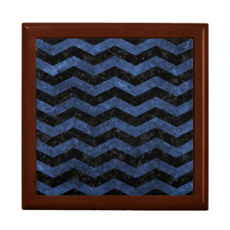 CHEVRON3 BLACK MARBLE & BLUE STONE GIFT BOX