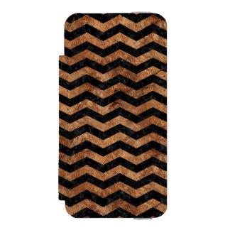 CHEVRON3 BLACK MARBLE & BROWN STONE INCIPIO WATSON™ iPhone 5 WALLET CASE