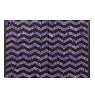 CHEVRON3 BLACK MARBLE & PURPLE MARBLE COVER FOR iPad AIR