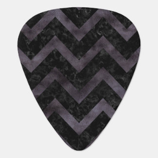CHEVRON9 BLACK MARBLE & BLACK WATERCOLOR PLECTRUM
