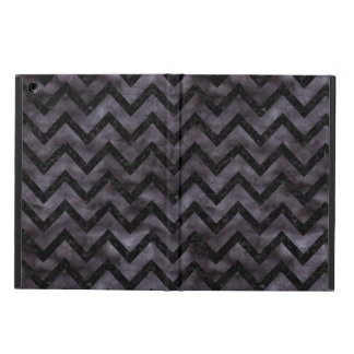 CHEVRON9 BLACK MARBLE & BLACK WATERCOLOR (R) COVER FOR iPad AIR