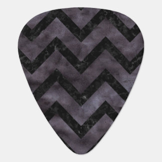 CHEVRON9 BLACK MARBLE & BLACK WATERCOLOR (R) PLECTRUM
