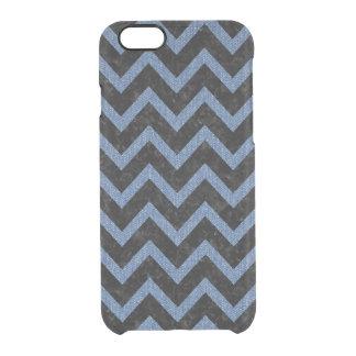 CHEVRON9 BLACK MARBLE & BLUE DENIM CLEAR iPhone 6/6S CASE