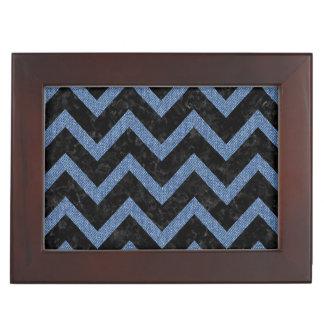 CHEVRON9 BLACK MARBLE & BLUE DENIM KEEPSAKE BOX