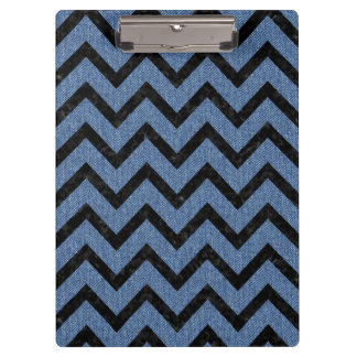 CHEVRON9 BLACK MARBLE & BLUE DENIM (R) CLIPBOARD