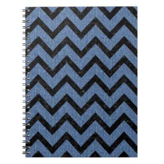 CHEVRON9 BLACK MARBLE & BLUE DENIM (R) NOTEBOOKS