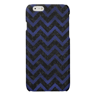 CHEVRON9 BLACK MARBLE & BLUE LEATHER