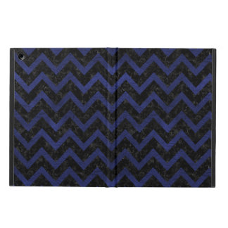CHEVRON9 BLACK MARBLE & BLUE LEATHER COVER FOR iPad AIR