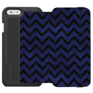CHEVRON9 BLACK MARBLE & BLUE LEATHER (R) INCIPIO WATSON™ iPhone 6 WALLET CASE