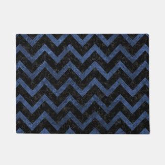 CHEVRON9 BLACK MARBLE & BLUE STONE DOORMAT