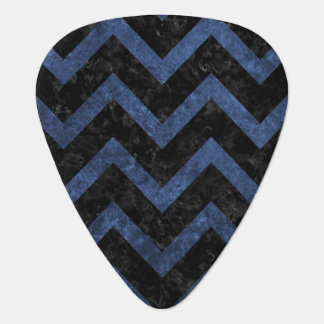 CHEVRON9 BLACK MARBLE & BLUE STONE GUITAR PICK