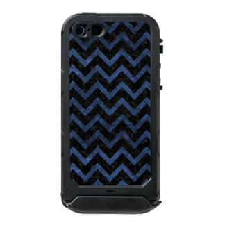 CHEVRON9 BLACK MARBLE & BLUE STONE INCIPIO ATLAS ID™ iPhone 5 CASE