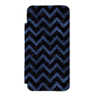 CHEVRON9 BLACK MARBLE & BLUE STONE INCIPIO WATSON™ iPhone 5 WALLET CASE