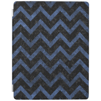 CHEVRON9 BLACK MARBLE & BLUE STONE iPad COVER