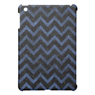 CHEVRON9 BLACK MARBLE & BLUE STONE iPad MINI COVER