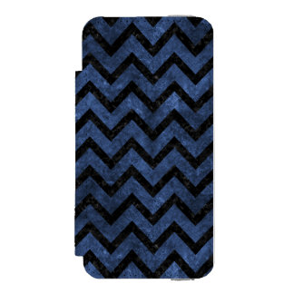 CHEVRON9 BLACK MARBLE & BLUE STONE (R) INCIPIO WATSON™ iPhone 5 WALLET CASE