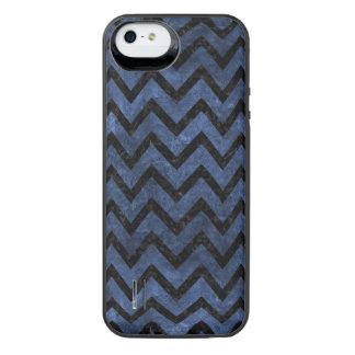 CHEVRON9 BLACK MARBLE & BLUE STONE (R) iPhone SE/5/5s BATTERY CASE