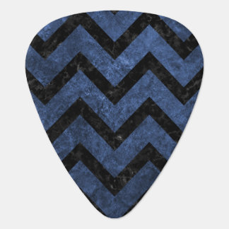 CHEVRON9 BLACK MARBLE & BLUE STONE (R) PLECTRUM