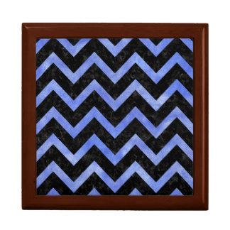 CHEVRON9 BLACK MARBLE & BLUE WATERCOLOR GIFT BOX