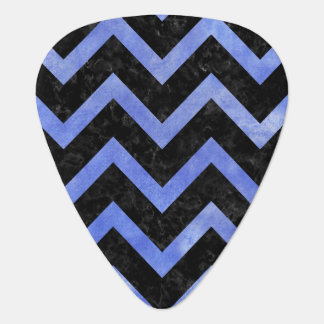 CHEVRON9 BLACK MARBLE & BLUE WATERCOLOR PLECTRUM