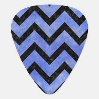 CHEVRON9 BLACK MARBLE & BLUE WATERCOLOR (R) PLECTRUM