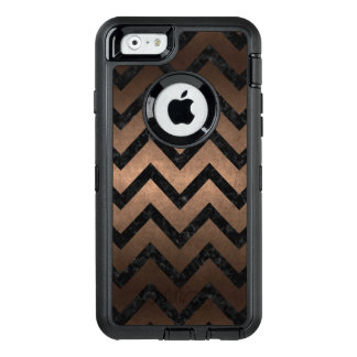 CHEVRON9 BLACK MARBLE & BRONZE METAL (R) OtterBox DEFENDER iPhone CASE