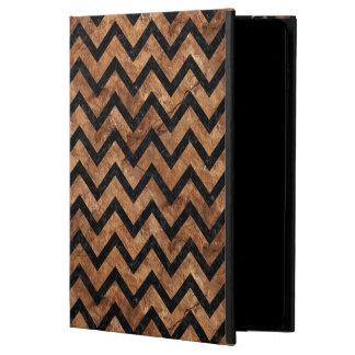 CHEVRON9 BLACK MARBLE & BROWN STONE (R) POWIS iPad AIR 2 CASE