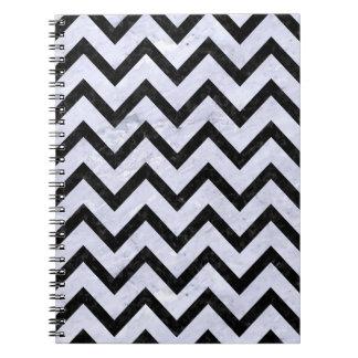 CHEVRON9 BLACK MARBLE & WHITE MARBLE (R) NOTEBOOKS