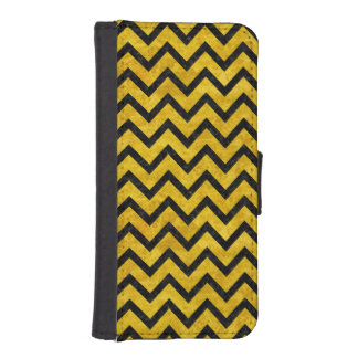 CHEVRON9 BLACK MARBLE & YELLOW MARBLE (R) iPhone SE/5/5s WALLET CASE