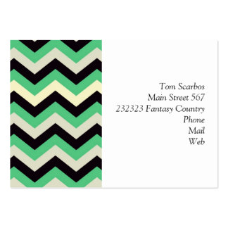 chevron 02 zigzag aqua black business cards