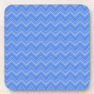 Chevron 03 zigzag blue coaster