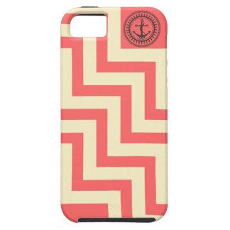 Chevron Anchor Preppy Pink Coral Peach Zig Zag iPhone 5 Cases
