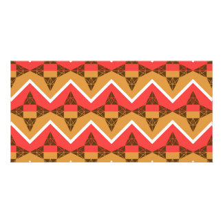 Chevron and triangles custom photo card