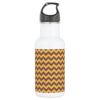 Chevron Beeswax Color And Coffee Brown 532 Ml Water Bottle