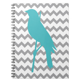 Chevron Bird Spiral Notebook