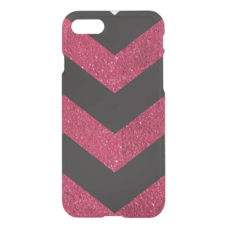 chevron black and pink iPhone 7 case