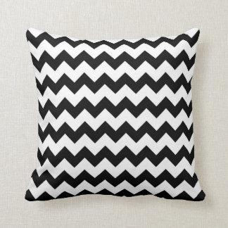 Chevron Black And White Throw Pillow