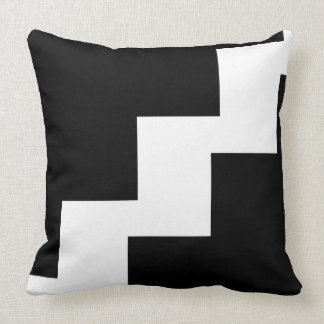 Chevron Black and White Toss Pillow