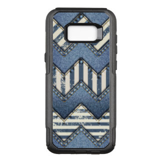 Chevron Blue Jean Pattern Design OtterBox Commuter Samsung Galaxy S8+ Case